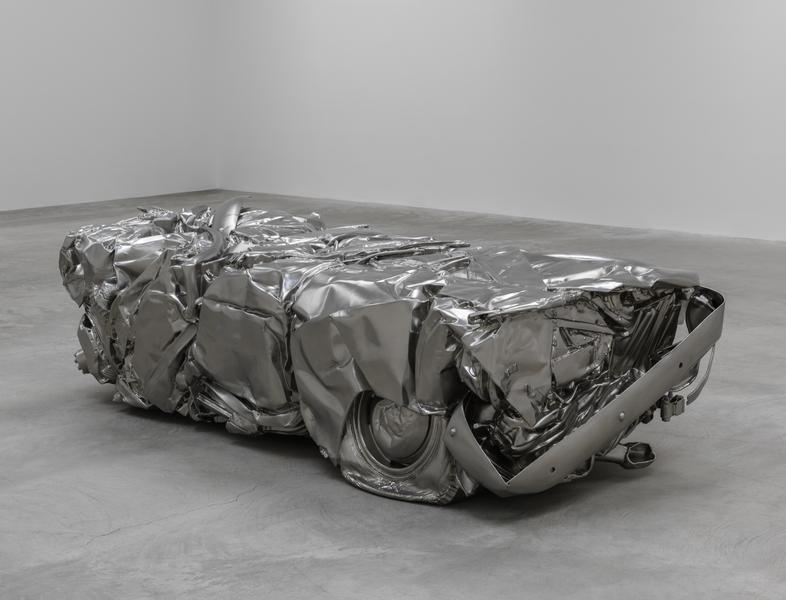 """""""Baled Truck"""", by Charles Ray at Matthew Marks Gallery, Los Ange"""